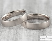 Fine! Wedge white gold, platinum, palladium, narrow wedding rings, tooth rings, partner rings, handmade, jewelry messages, goldsmiths, Berlin