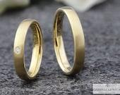 Gold wedding rings 4 mm w...