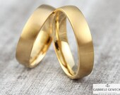 Fine! Wedge yellow gold, rose gold, red gold, narrow wedding rings, tooth rings, partner rings, handmade, jewelry messages, goldsmiths, Berlin