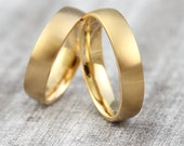 "Wedding rings ""pikeFINE"" 585 750 gold, wedding rings narrow simple, wedding rings yellow gold without stone, gold rings narrow, wedding rings wedding rings with engraving"