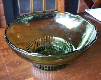 Vintage E. O. Brody M2000 Avocado Green Bowl Vase