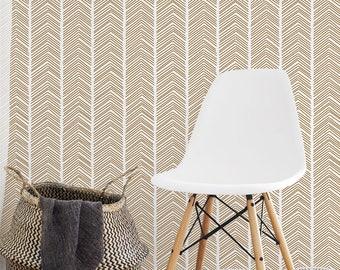 Chevron Wand Schablone geometrische Muster-Schablone | Etsy