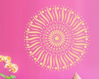 Summer mandala wall decal Mandala vinyl decal Mandala wall art Yoga wall decal Mandala sticker #100
