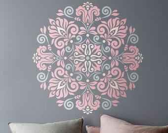 Mandala Stencil Tribal Pattern for DIY Wall Decor Modern Home Decorative Stencils Mandala wall art Yoga studio Bedroom flower decor  #s001