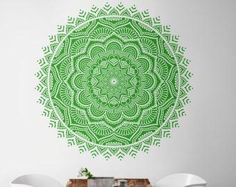 Mandala wall decal prosperity Mandala vinyl decal Mandala wall art Yoga wall decal Mandala sticker #029