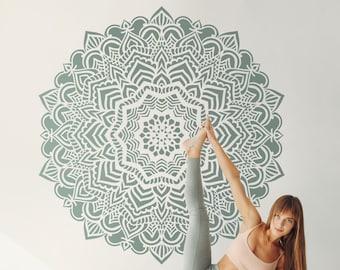 Mandala stencil, Mandala pattern for DIY, Wall decor Modern home stencils, Mandala wall art, Yoga studio decor  #s015