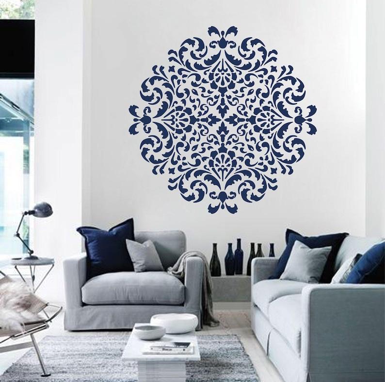 Mandala moroccan stencil Moroccan pattern for DIY Wall decor Modern home stencils Mandala wall art Yoga studio floral decor  #s014
