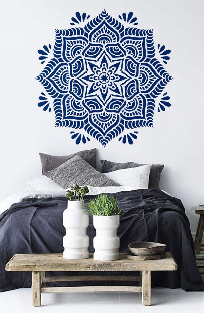 Mandala Stencil Mandala Pattern For Diy Wall Decor Modern Home Etsy