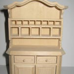 Dollhouse Miniature Kitchen Hutch Display Cabinet Unfinished 1:12 Scale  Furniture