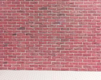 Dollhouse Miniature Red Blend Colored Bricks in 1:12 Scale