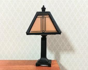 Dollhouse Miniature Lamp Arts & Crafts Craftsman Style 1:12 Scale 12 volt