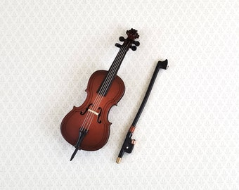 1:12 Dollhouse Miniature Violin Musical Instruments Collection DIY Decor Gift rl