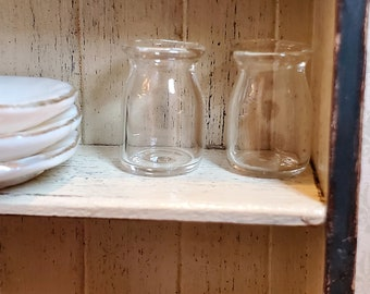 Dollhouse miniature 1//12 scale clear dessert snack can Jar with Lid P1