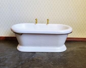 Dolls House Yellow Duck Miniature Bathroom Bath Tub or Garden Pond Accessory