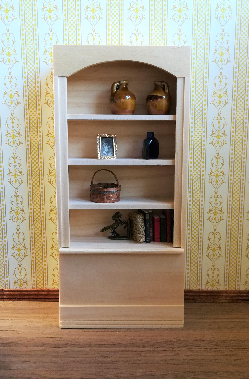Dollhouse Miniature Bookcase 4 Shelf 1 12 Scale Bookshelf
