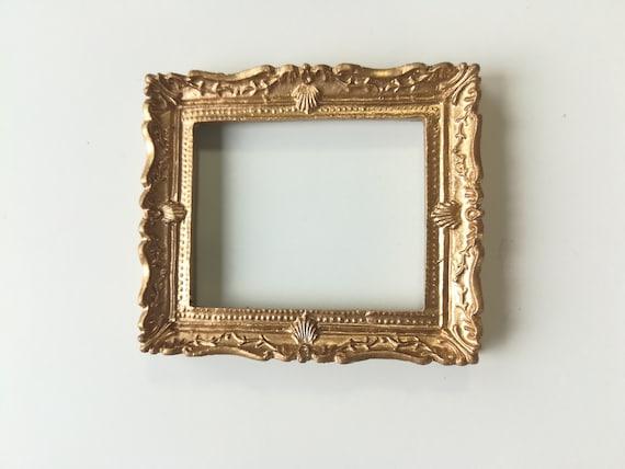 Miniature Handsome Rectangular Picture Frame WALNUT  DOLLHOUSE Miniatures 1:12