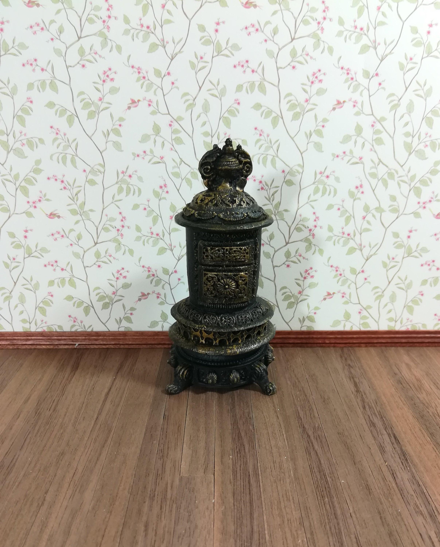 Dollhouse Miniature Metal Log Holder 1:12 Fireplace Rustic Camp Cabin  #TP1140-1