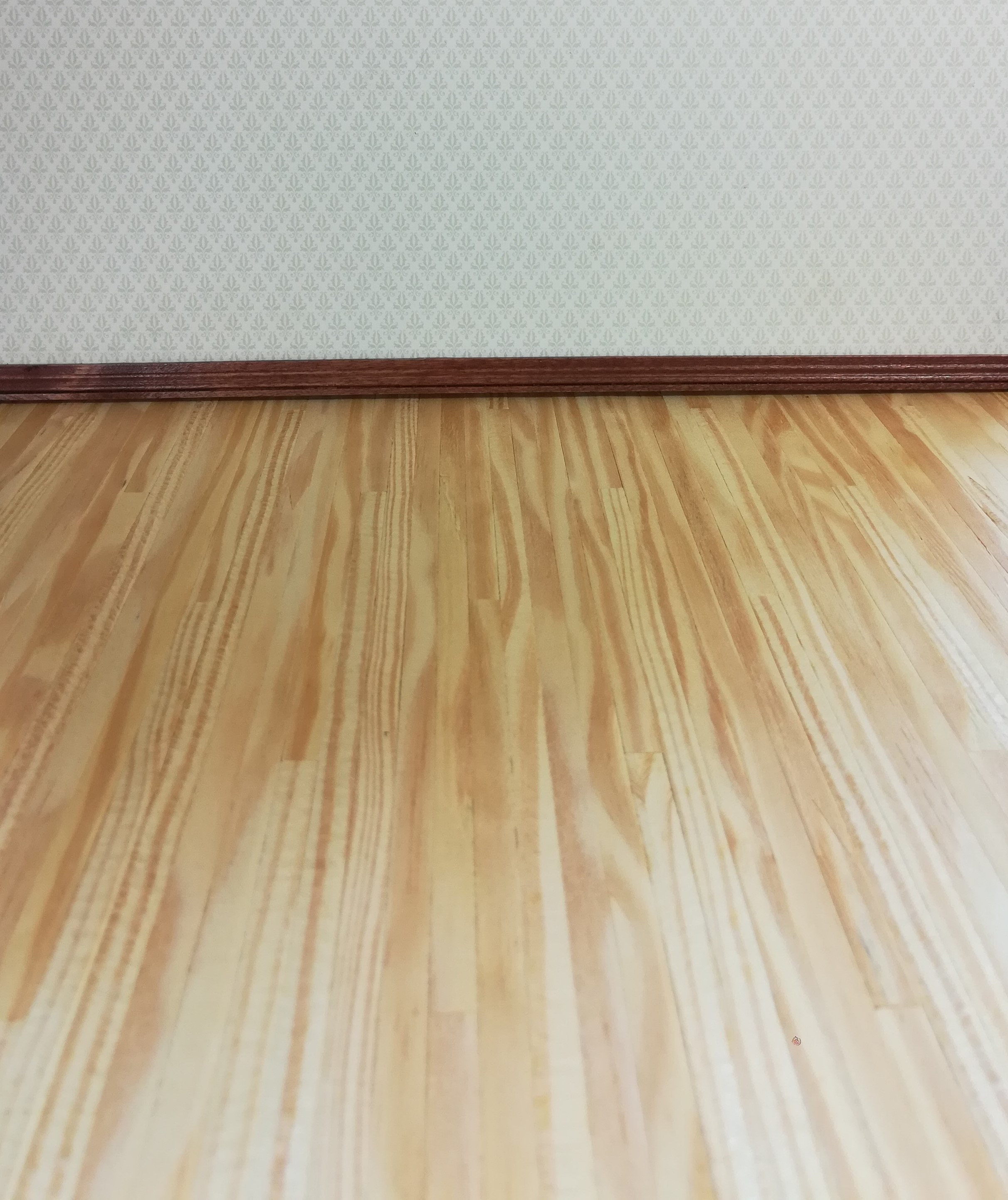 Dollhouse Miniature Southern Pine Real Wood Flooring 1/4
