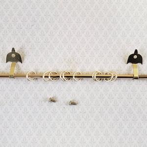 Dollhouse curtain brackets pair 116 miniature
