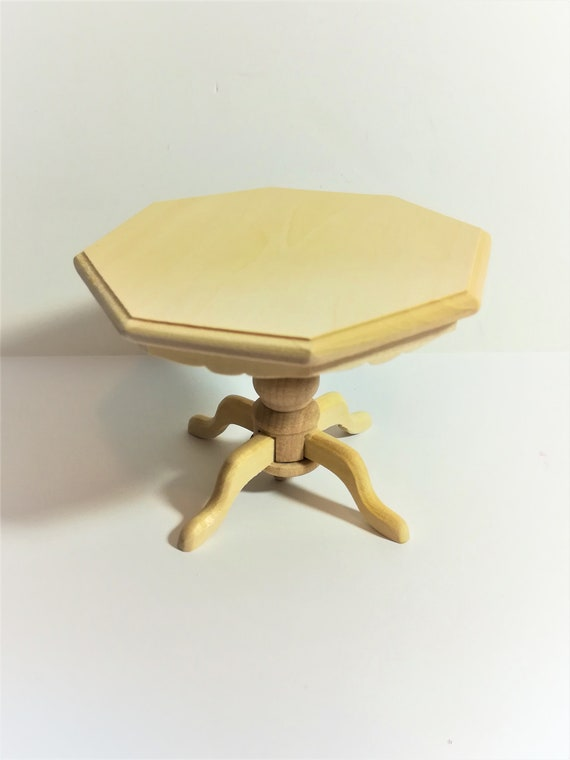Dollhouse Miniature Unfinished Kitchen or Dining Room Table 1:12 Scale Furniture