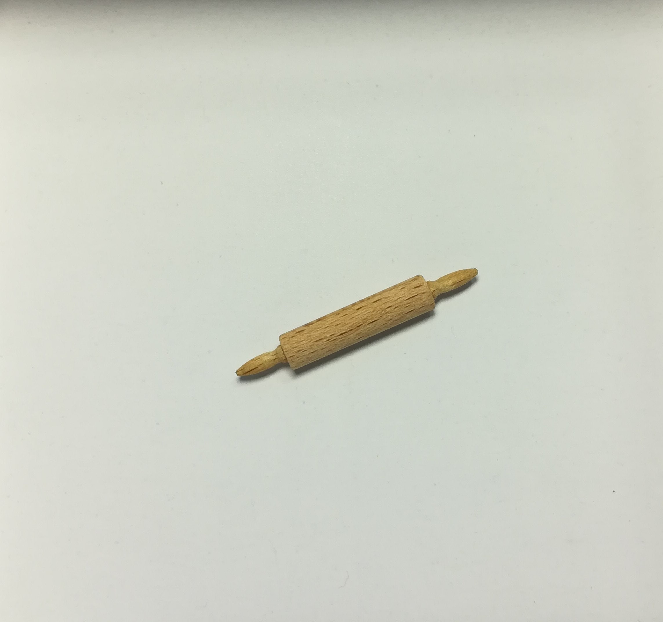 ROLLING PIN Wood DOLLHOUSE MINIATURES 1:12 SCALE