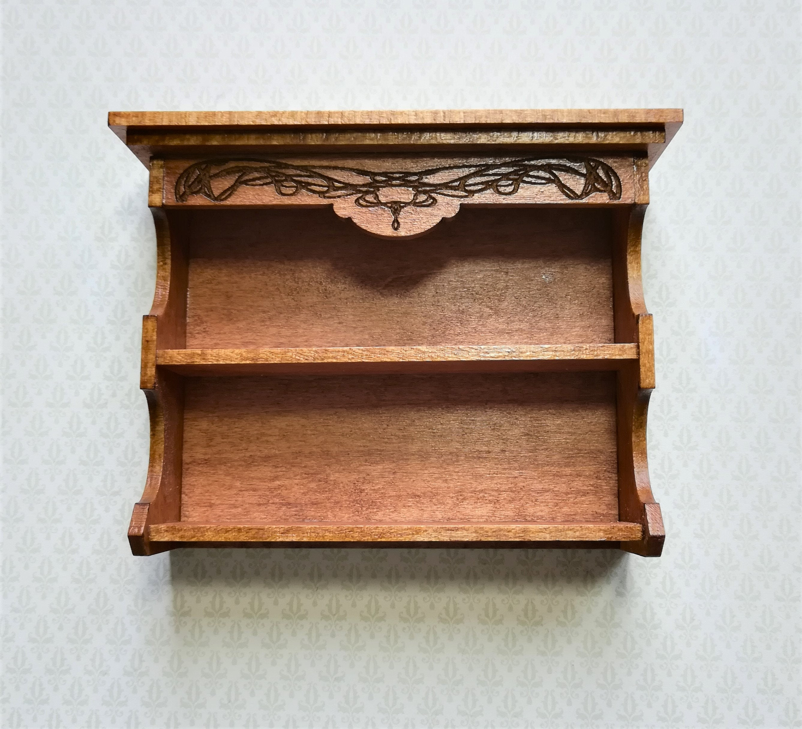 Dollhouse Miniature Hanging Shelf Or Standing Bookcase