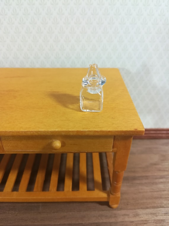 Dollhouse miniature 1//12 scale clear dessert snack can Jar with Lid LE
