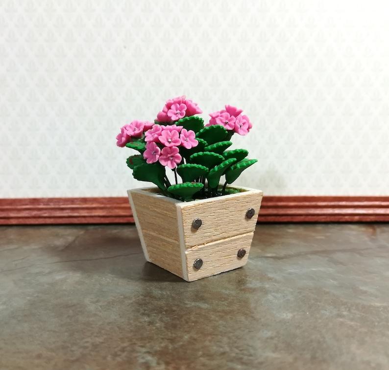 Other Miniature Dollhouse 1:12 Scale Garden Planter Box Flower Pot