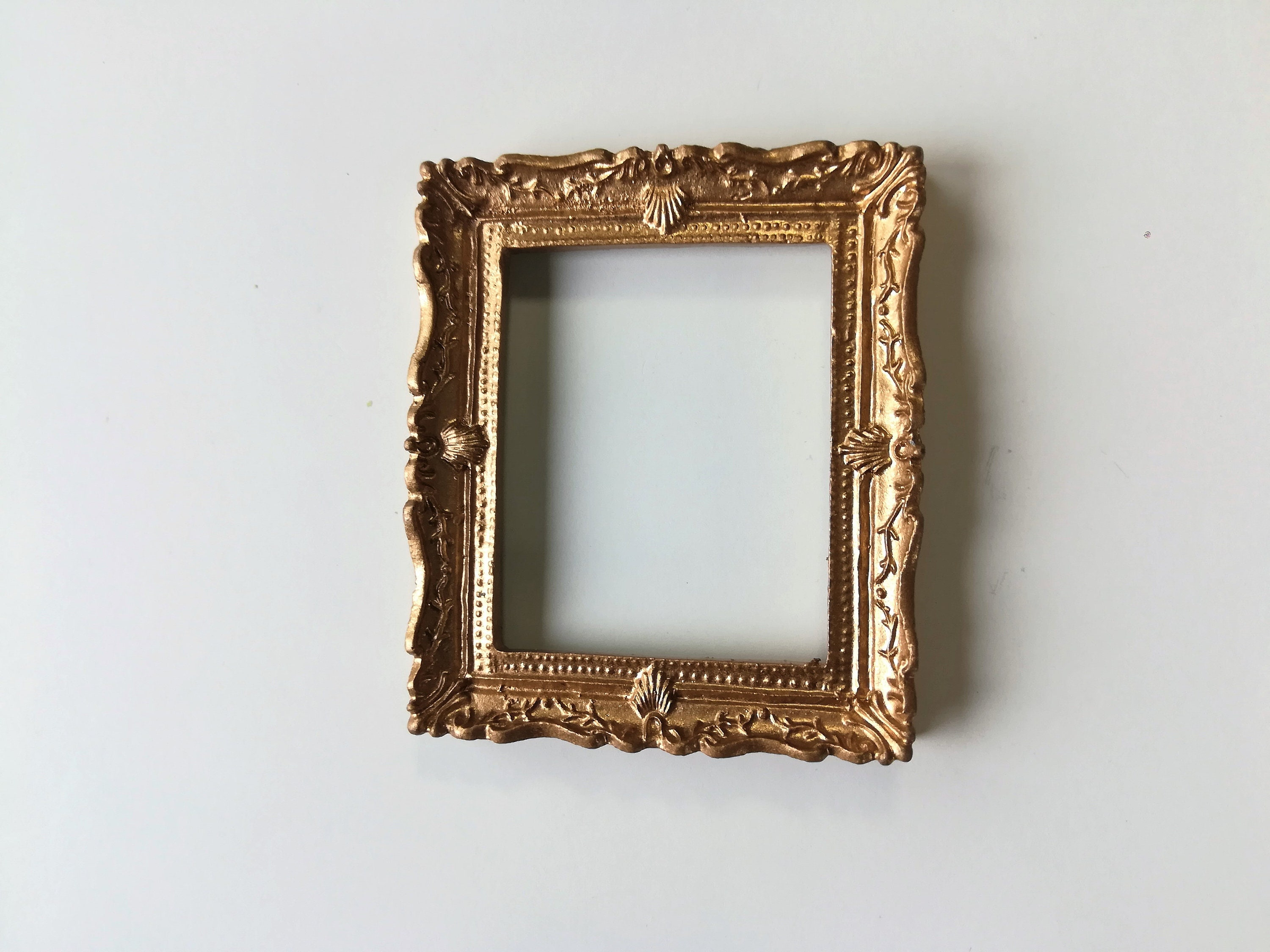 Dollhouse Miniature Large Fancy Gold Picture Frame for Painting 1:12 ...