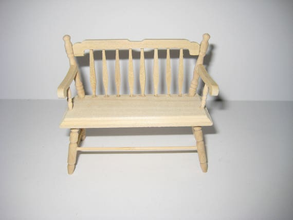 COLONIAL LOVE SEAT DOLLHOUSE FURNITURE MINIATURES