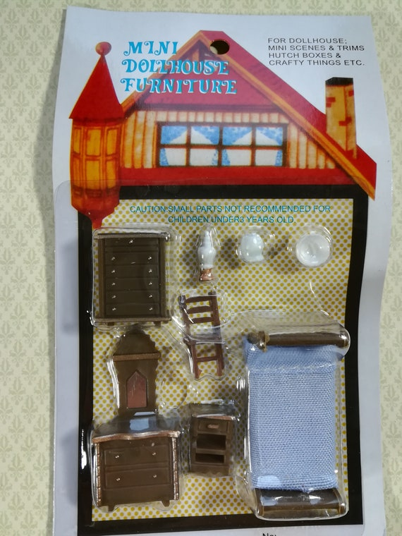 MORE DOLLHOUSE 1//48 MINIATURE VINTAGE KITCHEN SET WOOD-BURNING STOVE ICE BOX