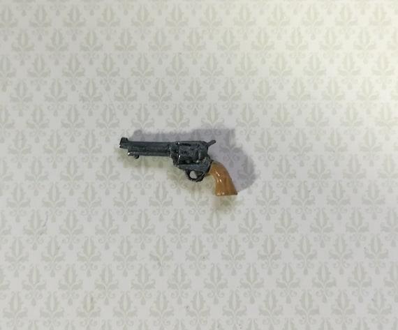 "Dollhouse Miniature Double Barrel Shotgun 1:12 Scale Painted Metal 3/"""