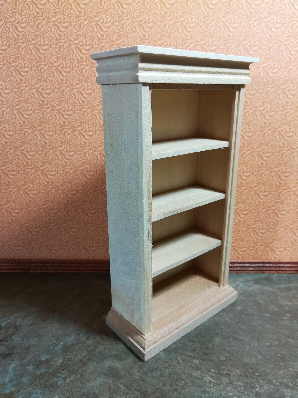 Dollhouse Miniature Bookshelf 4 Shelves 1 12 Scale Furniture