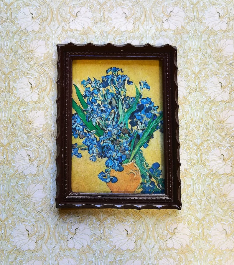 Vintage Flowers Miniature Dollhouse Doll House Picture