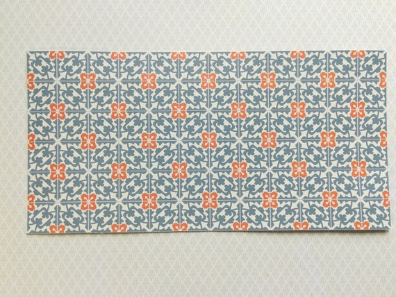 Dollhouse Miniature Tile Floor Sheet Blue//Gray Ivy Clover 1:12 Scale World Model