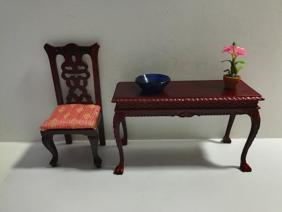 Dollhouse Miniature Cobalt Blue Glass Decorative Serving Bowl 1:12 Scale
