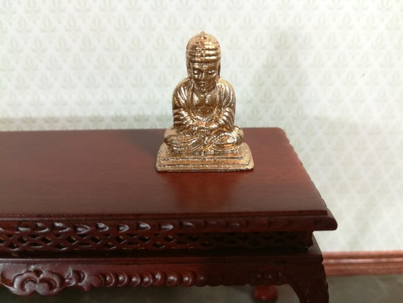 DOLL HOUSE MINIATURE LITTLE BUDDHA FIGURINE