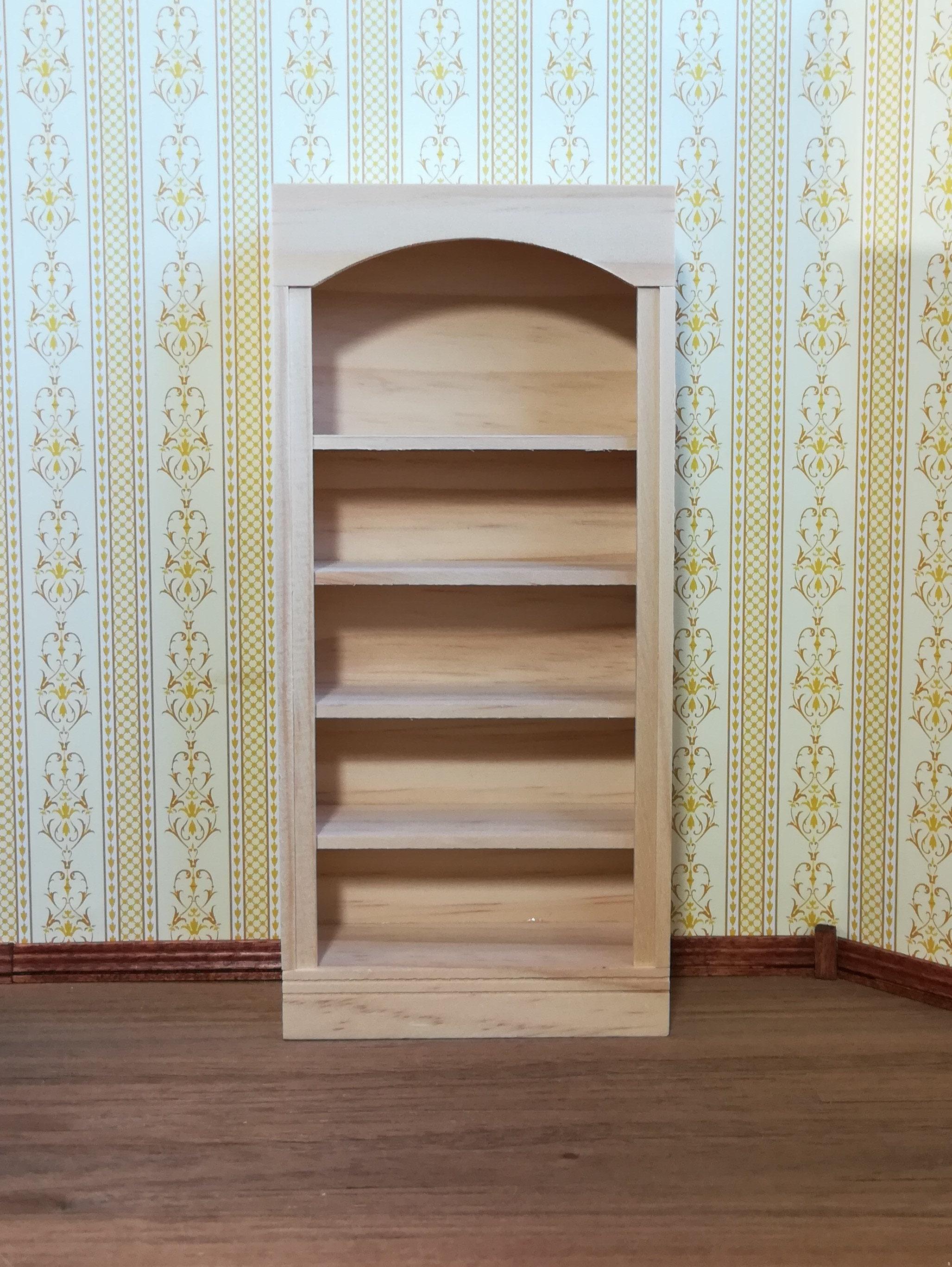 Dollhouse Miniature Bookcase 5 Shelf 1 12 Scale Unfinished