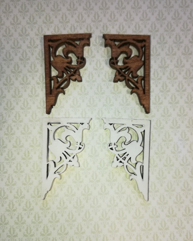 1:12 Scale Victorian Dollhouse Bracket Set