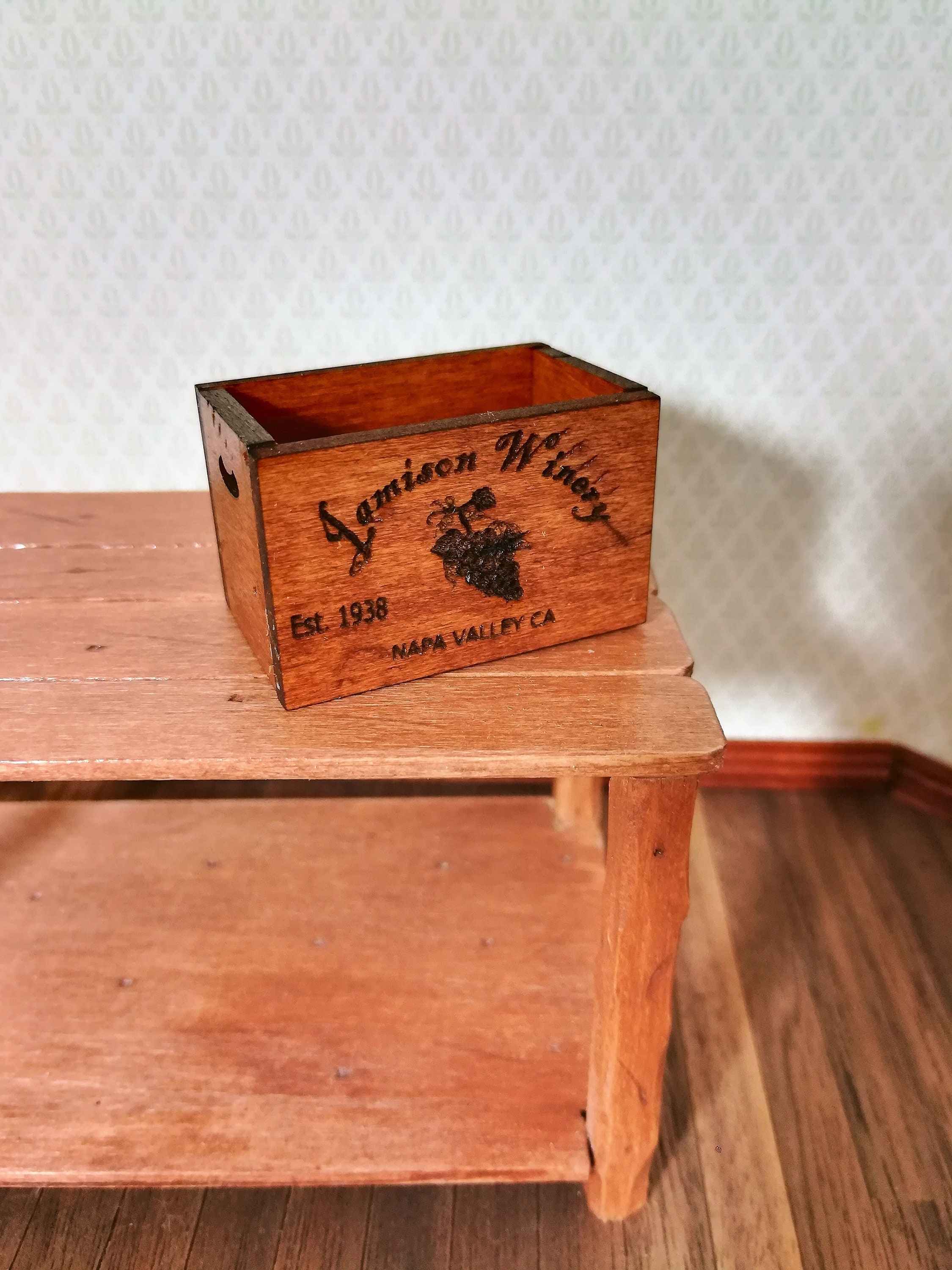 Prime Dollhouse Miniature Wine Crate Jamison Winery Napa Valley Download Free Architecture Designs Scobabritishbridgeorg