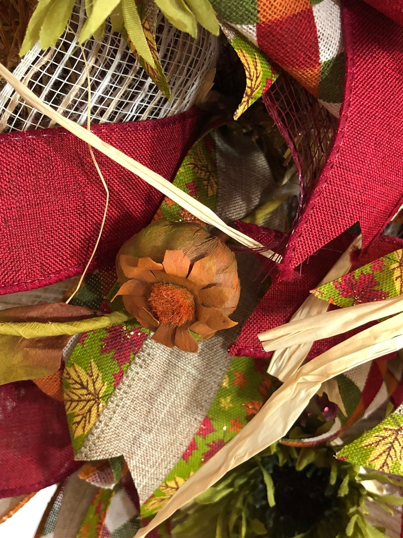 Fall Decor Autum Wreath Fall Wreath Thanksgiving Wreath Pumpkin Wreath Fall Decor for Front Door Holiday Wreath