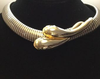 BUTLER Choker Ring V-Neck Long Sleeve w Pom Pom Trim