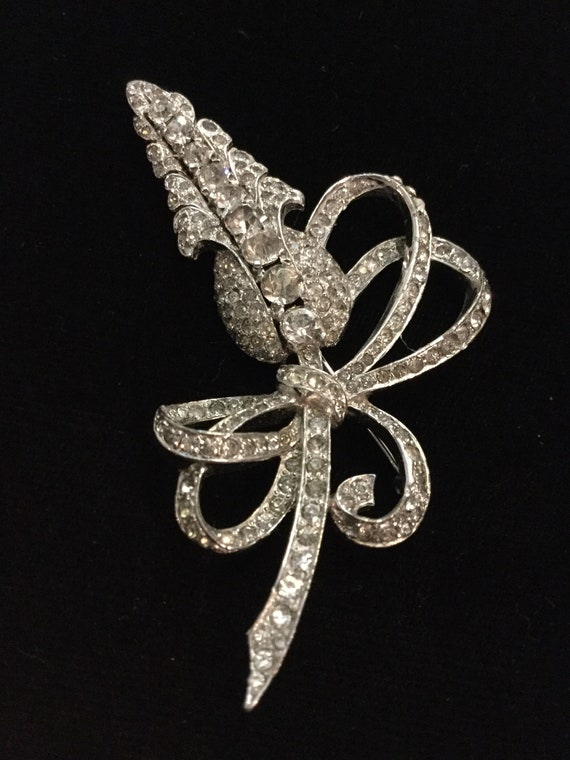 MAZER FLORAL and BOWS Brooch - image 1