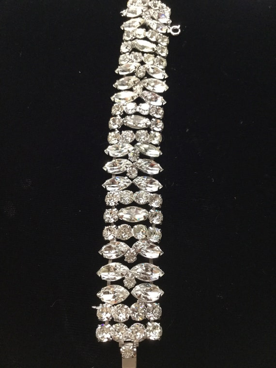 KRAMER of NY Wide Diamante Bracelet