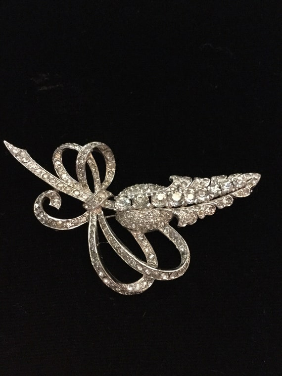 MAZER FLORAL and BOWS Brooch - image 3