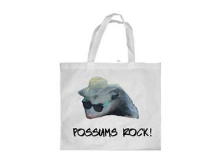 Possum rock, possum tote bag, funny tote bag, possum gift, opossum, opossum bag