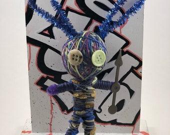 Bunny Warrior string doll