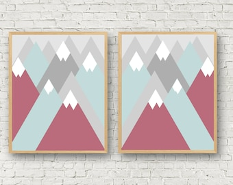 Mountain Nursery Decor / Adventure Nursery / Mountain Decor / Mountain Printable / Mountain Wall Art / Mountain Art / Modern Nursery