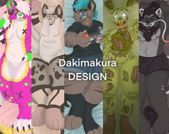 Dakimakura Fursona Furry Human Design