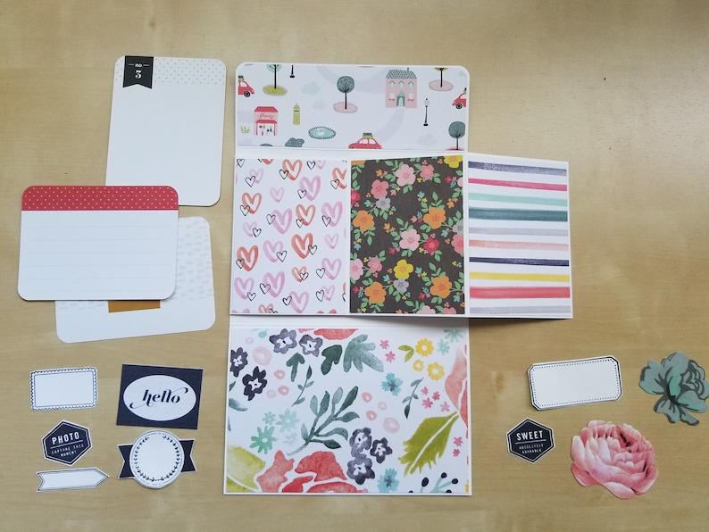 Summer album Premade scrapbook mini Handmade Ready to ship travel album vacation book Memories Photo journaling Instax album 3x4